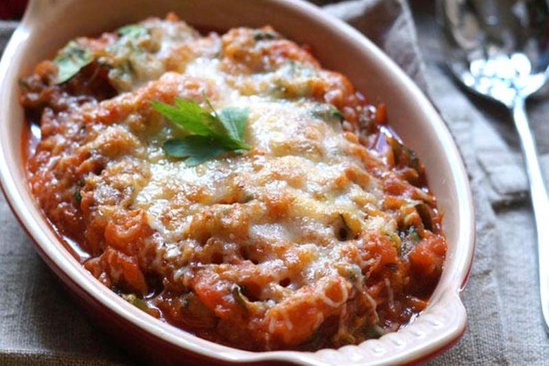 hidden vegetable baked pasta