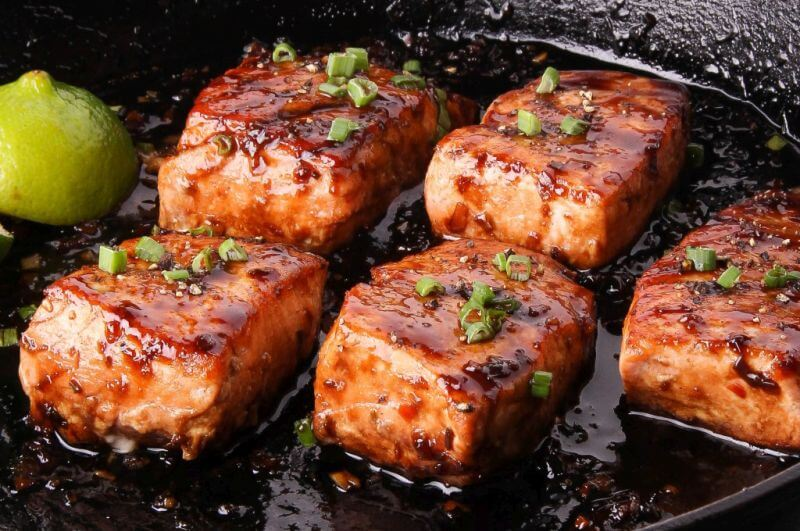 lean salmon steak recipe
