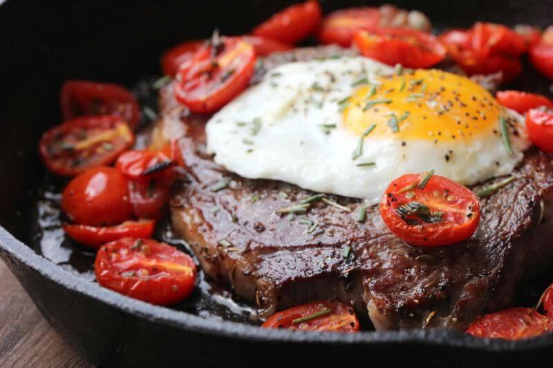 lean steak and eggs recipe