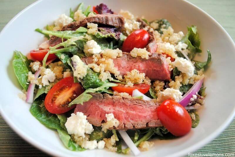 lean steak salad recipe