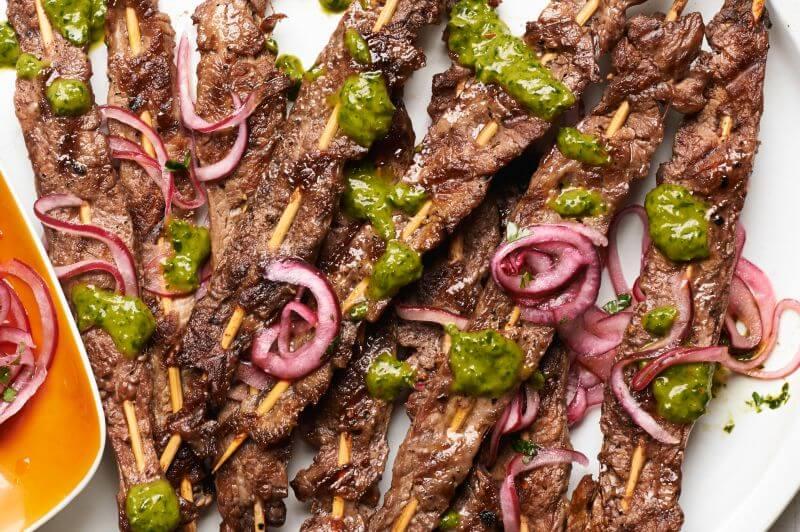 lean steak skewers recipe