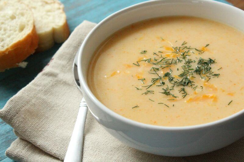 vegetable cheese soup recipe