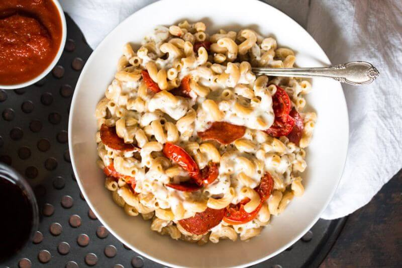 healthy Pizza mac and cheese
