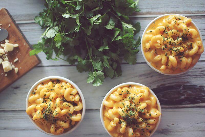 healthy cottage mac and cheese