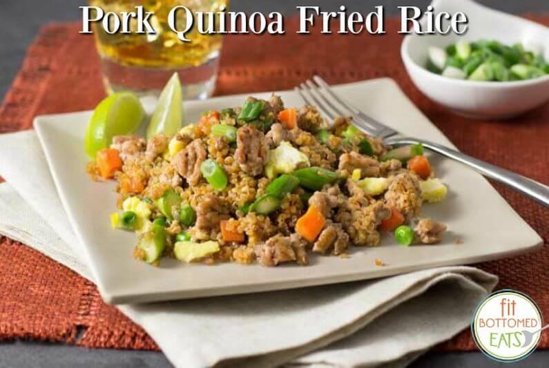 healthy pork fried quinoa recipe