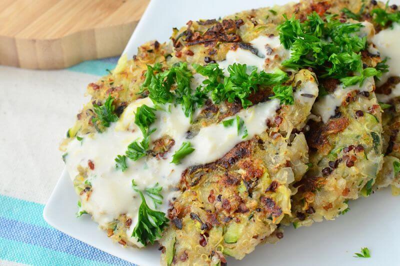 healthy quinoa fritters recipe