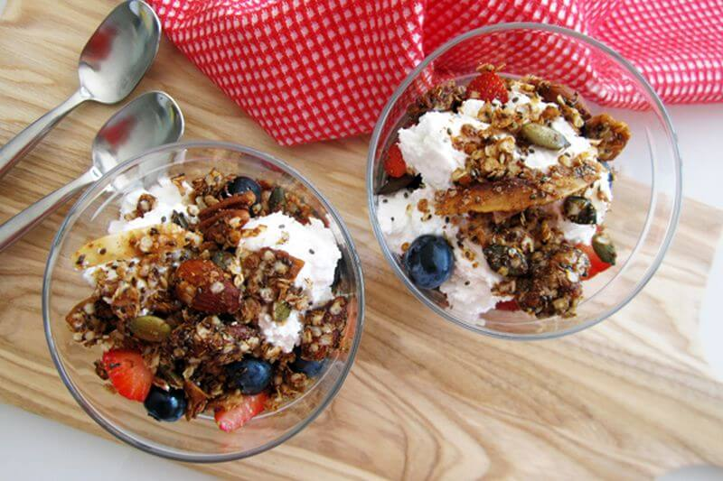 healthy quinoa granola recipe