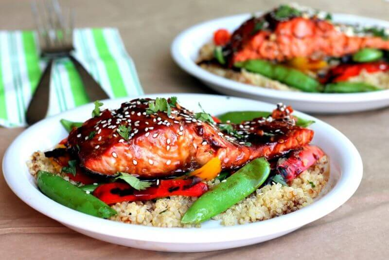 healthy salmon quinoa recipe