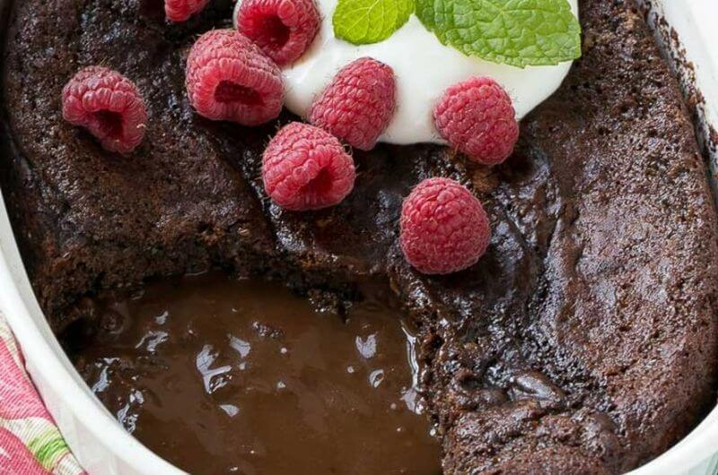 low fat chocolate pudding cake dessert