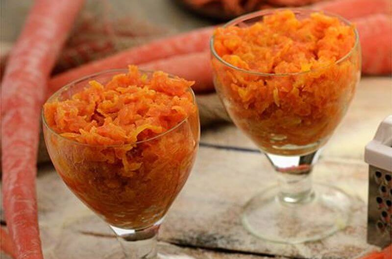 low fat gajar halwa dessert