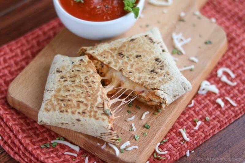 Chicken Parmesan Wraps recipe