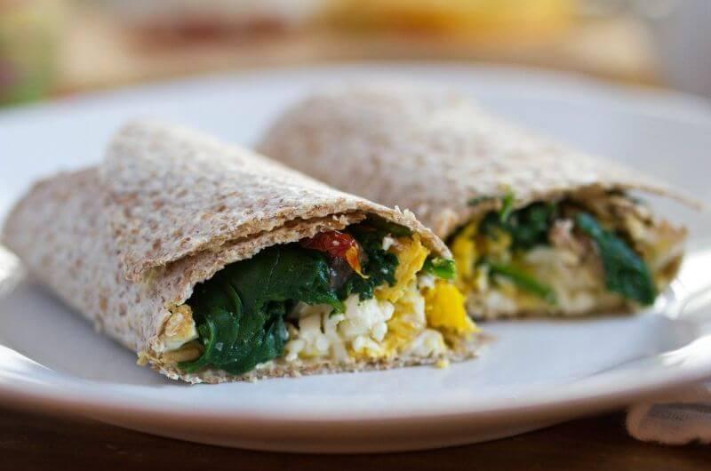 Egg and Hummus Wrap recipe