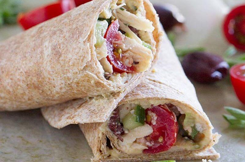 Greek Chicken Wrap Recipe