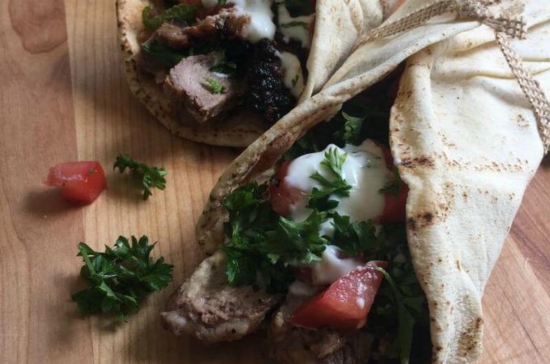 Steak Pita wrap recipe
