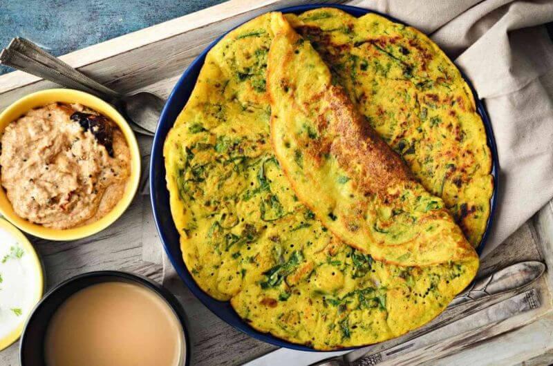 easy spinach crepe recipe