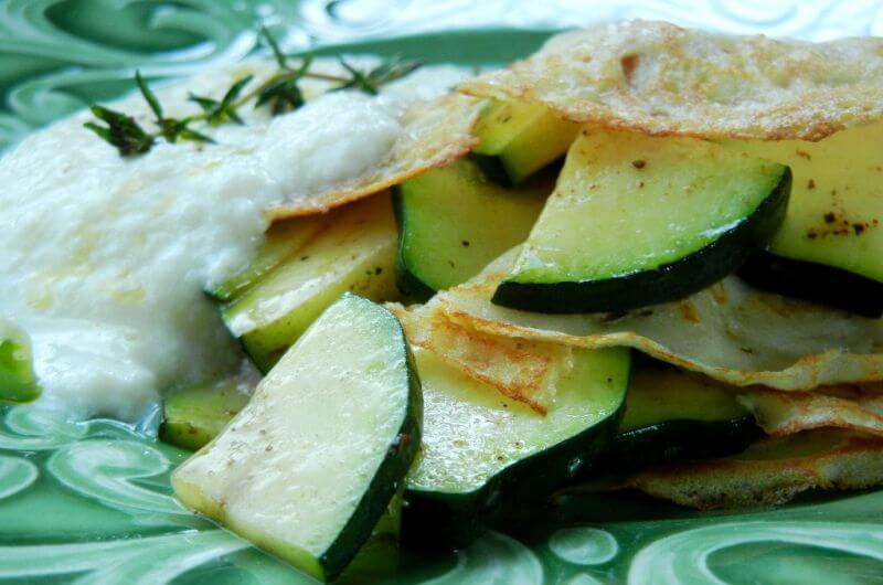 easy zucchini crepe recipe