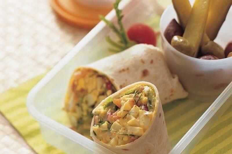 egg salad wrap recipe