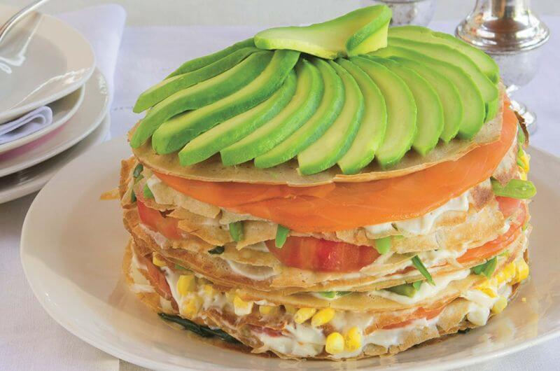 savory crepe cake recipe