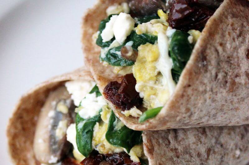 spinach and feta wrap recipe