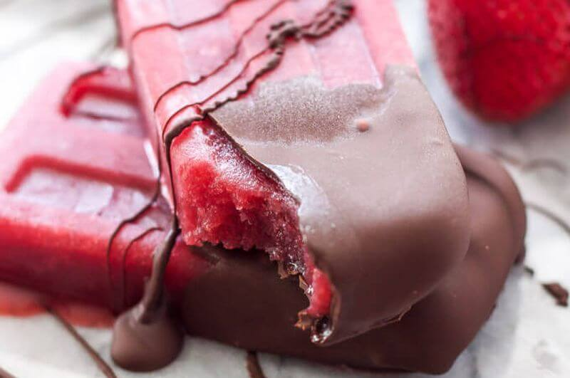 Chocolate Strawberry Popsicles recipe