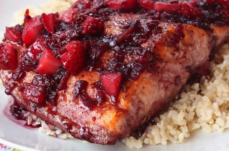 Strawberry Glazed Salmon recipe