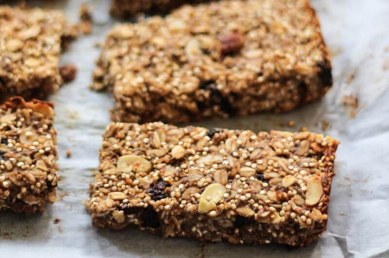 chia banana granola bar recipe