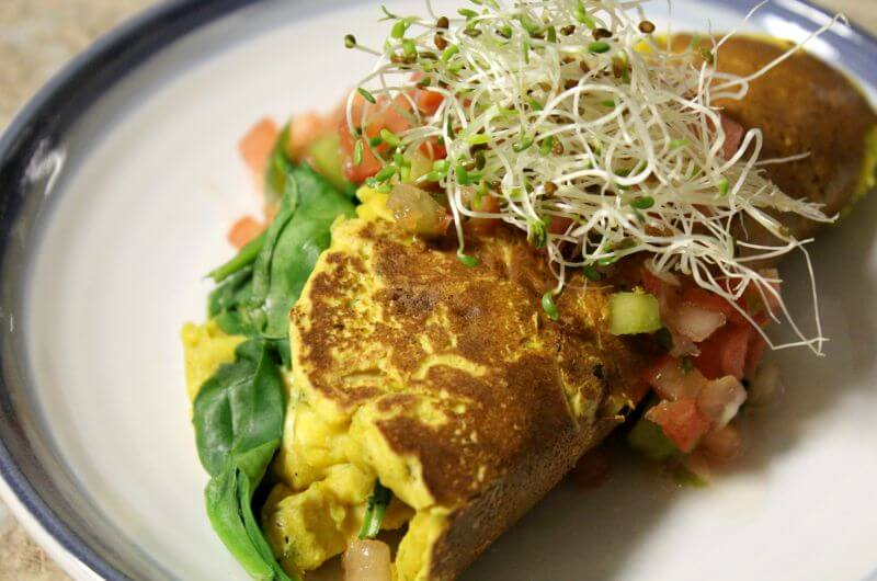 chickpea omelet recipe
