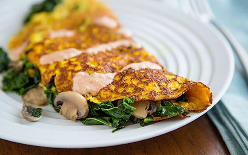 kale omelet recipe