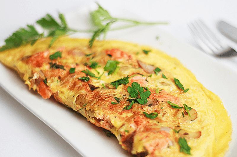 salmon omelet recipe