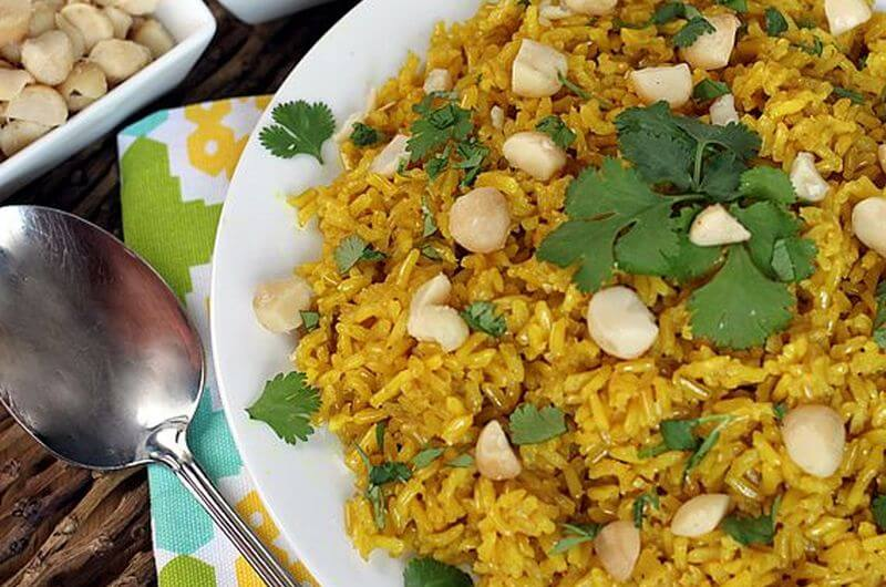 spiced coconut rice recipe