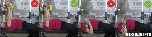 bench press form wrist