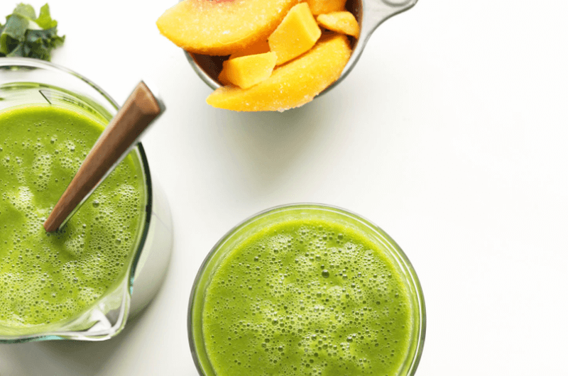 mango ginger kale smoothie recipe