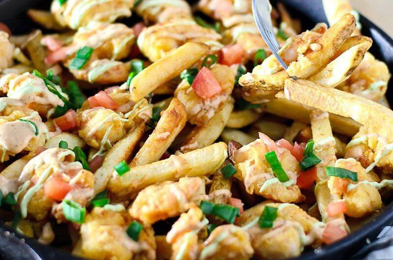 Po Boy Fries post workout meals