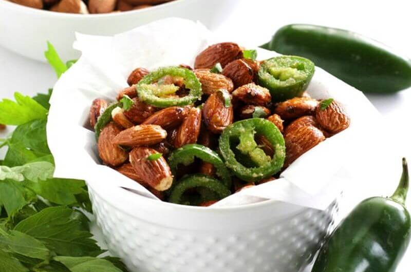 Spicy Jalapeno Almonds low cal snack