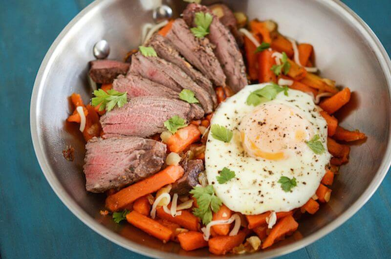 Steak and Sweet Potato Hash post workout meal