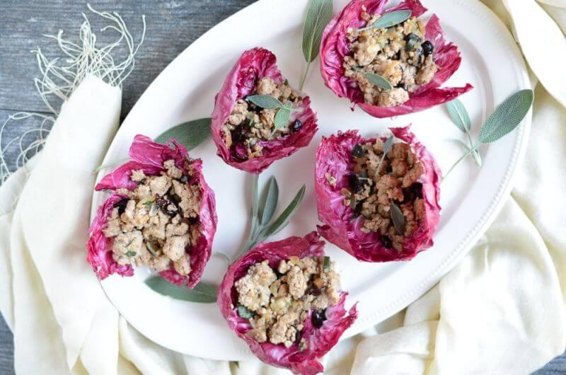 Turkey Cranberry Lettuce Wraps low cal snack