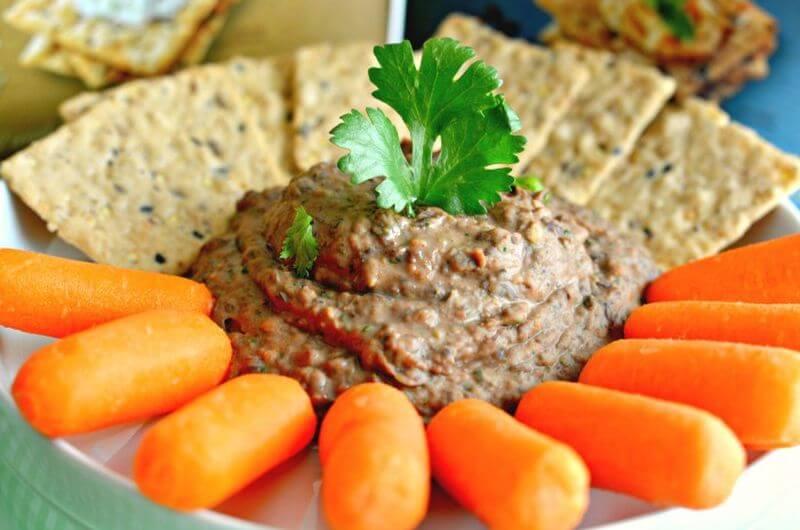 black bean hummus low cal snack