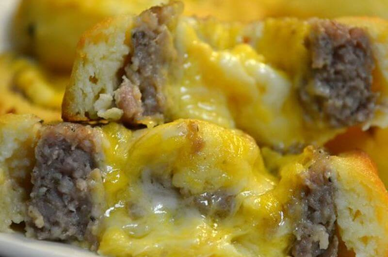low carb sausage breakfast roll