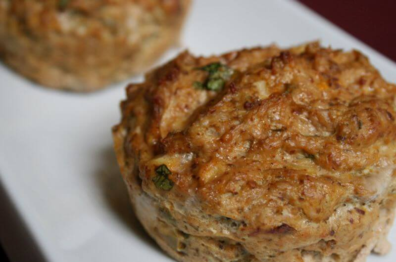 low fat chicken curry muffin