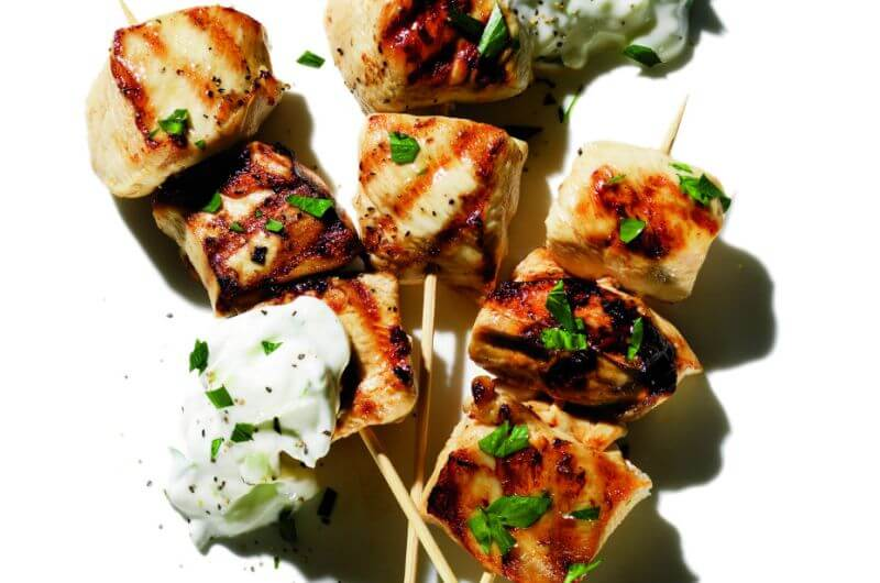 low fat chicken souvlaki recipe