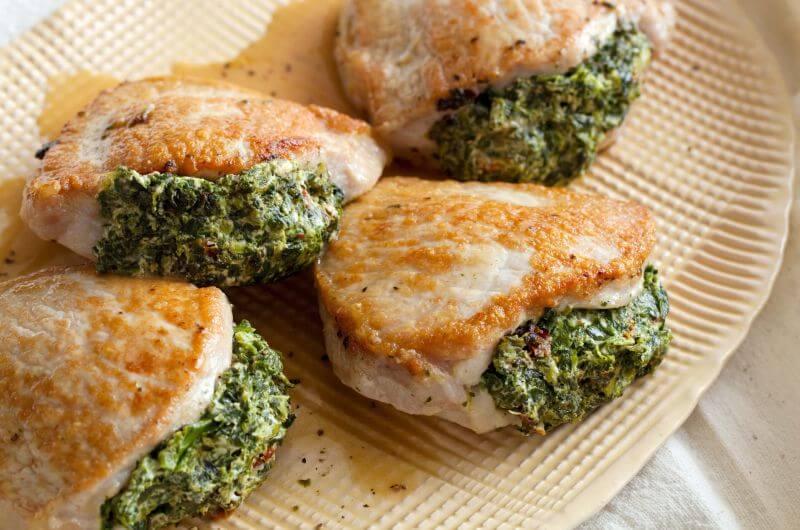 low fat stuffed pork recipe