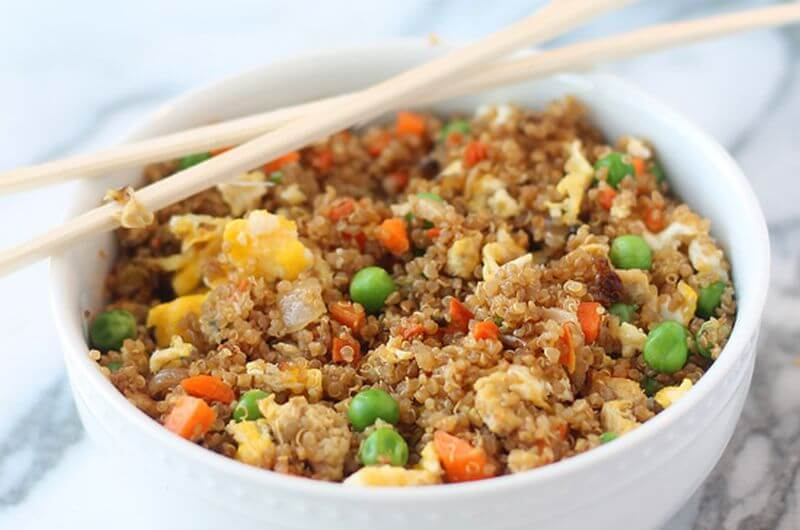 quinoa fried rice post workout meal
