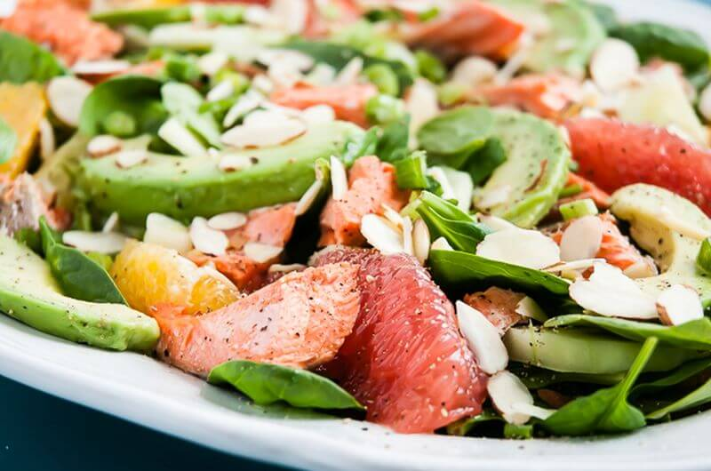salmon salad post workout meal