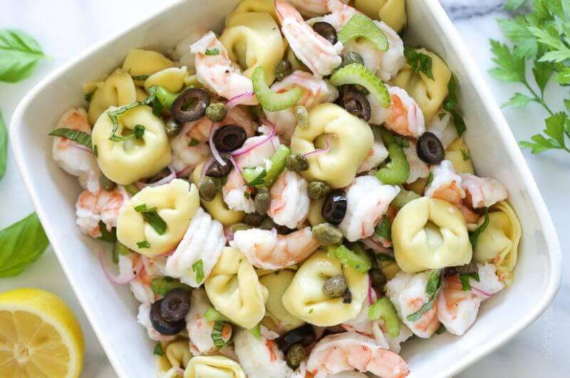 tortellini shrimp pasta salad