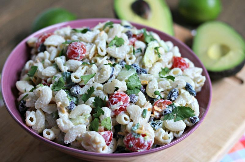 creamy avocado lime pasta salad recipe