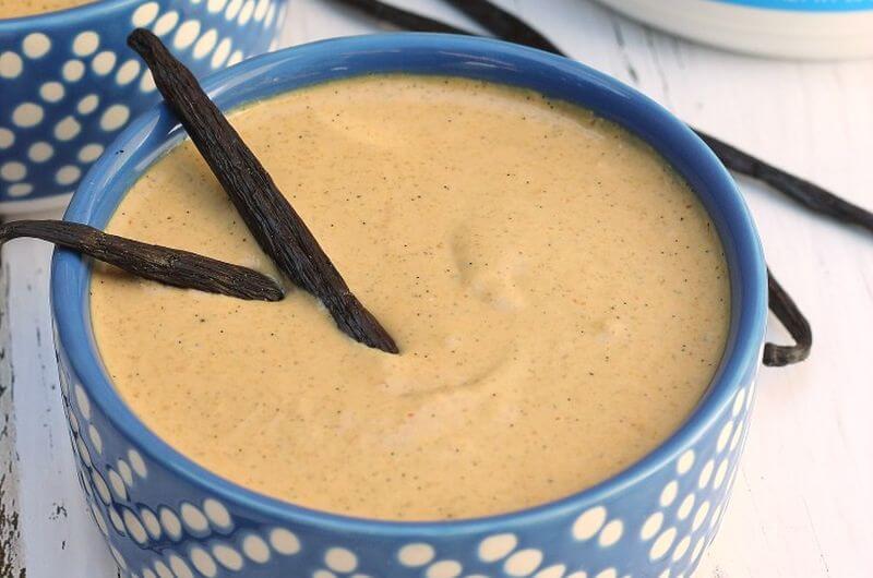 vanilla cake batter protein pudding vegan