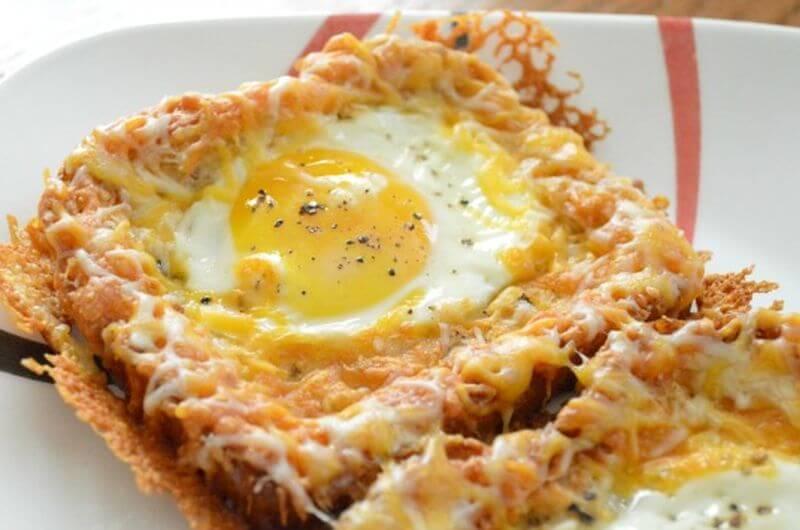 cheesy baked egg toast quick breakfast idea