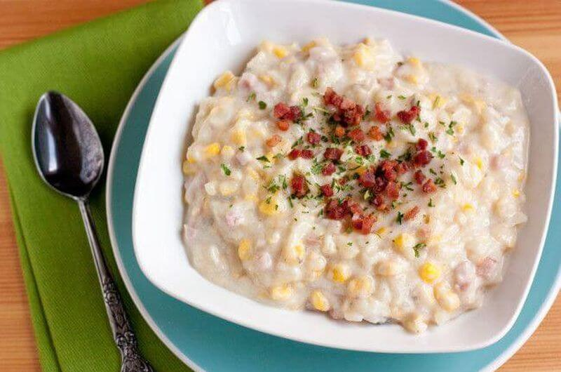 parmesan rind corn chowder easy crock pot recipe