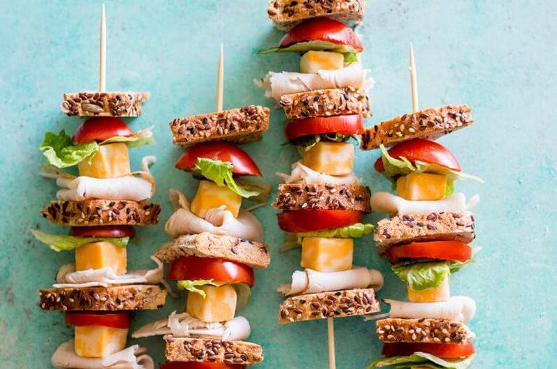 turkey sandwich skewers quick healthy meal