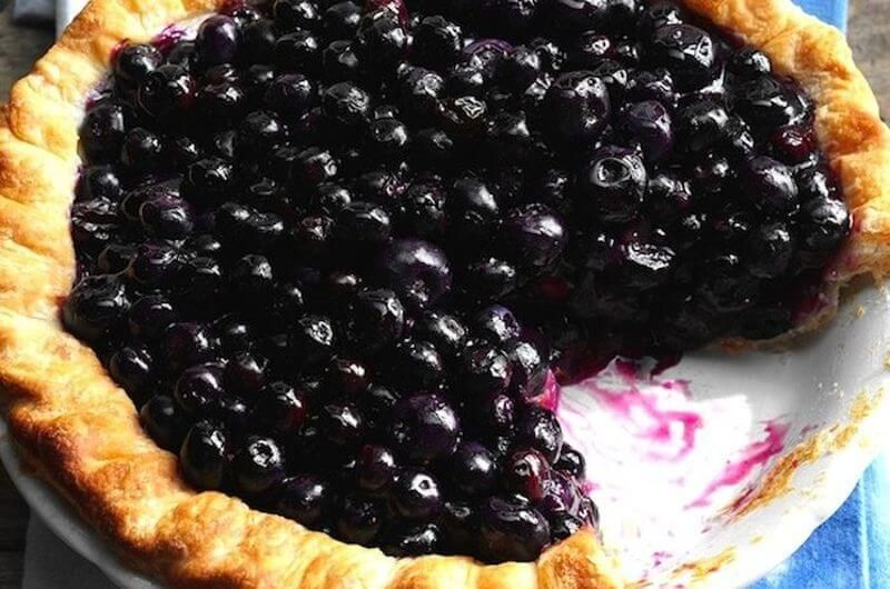 blueberry pie easy dessert recipe